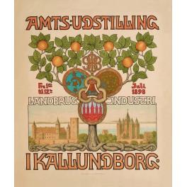 PLAKAT: Amtsudstillingen i Kalundborg 1898
